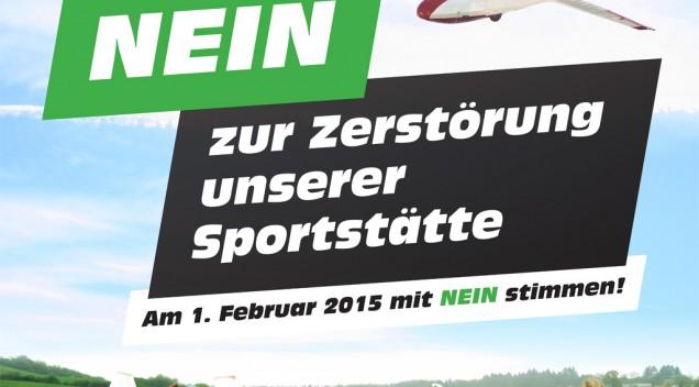 Unsere Plakate für den Bürgerentscheid am 1. Februar 2015